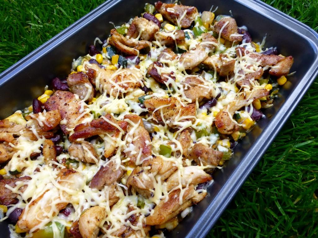 Cajun kippendijen met Mexicaanse groenten maken